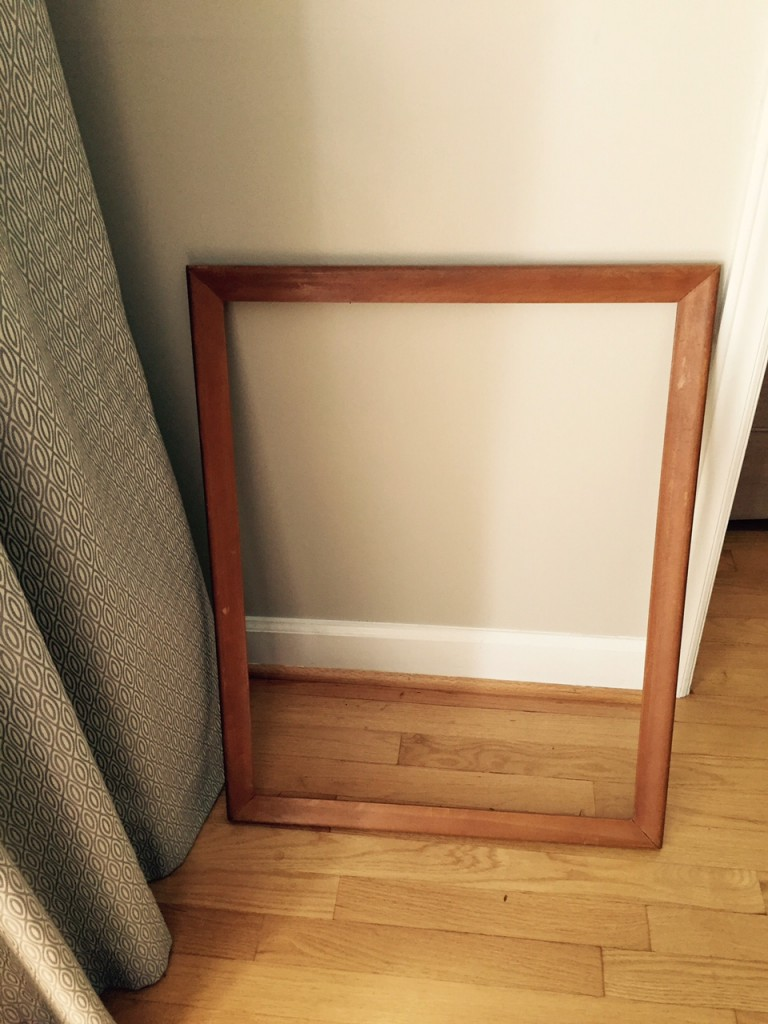 old frame, antique store, craft project, adding color to the room