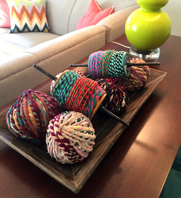 diy design ideas, gourd lamp, yarn balls, accent pieces