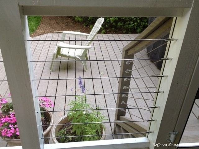 cable railing, stainles wire railing, modern design, screened porch, patio, porch railings