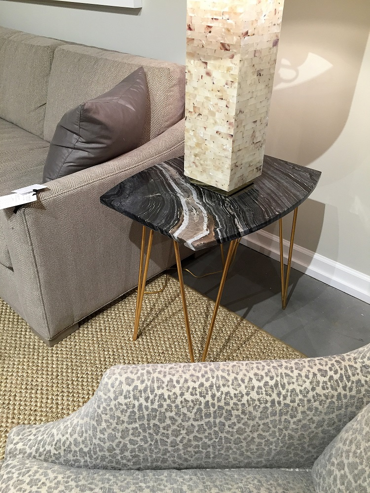Stone end table, High Point trends