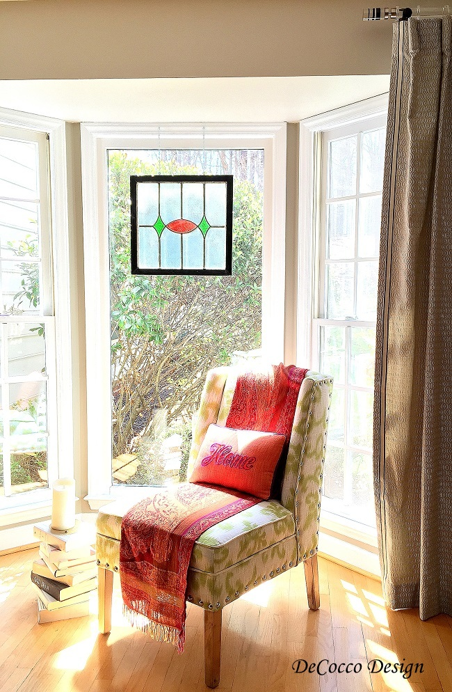 bay window, Raleigh interior designer, Chapel Hill interior designer, decorator