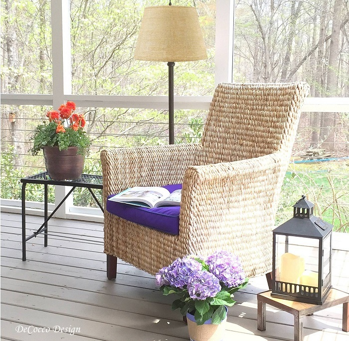 outdoor furniture, indoor outdoor fabric, outdoor lighting, porch, patio, deck, interior design raleigh, chapel hill interior designer, durham design, triangle decorators