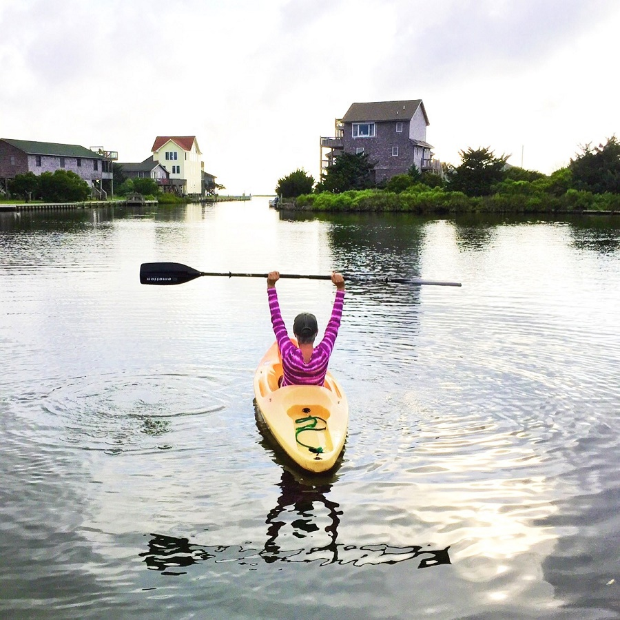 Raleigh Interior Designer Anne DeCocco of DeCocco Designs enjoys kayaking in Raleigh NC and the surrounding area