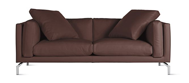 This isn't the $10k sofa she bought, but it looks similar. Sleek, but not very comfy.