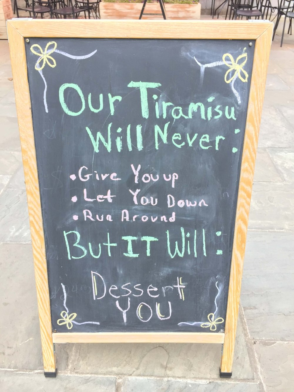 Saw this in front of Driftwood Southern Kitchen in Raleigh. Made me laugh right out loud!
