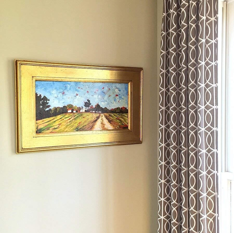I encourage my clients to purchase original artwork and help them choose just the right wall to display it!