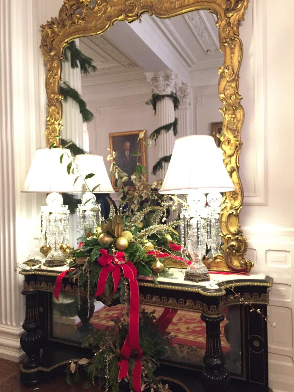 Christmas decor, Governor's Mansion, Raleigh, NC