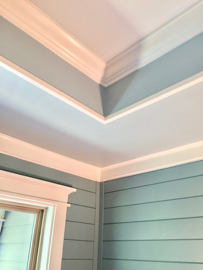 Shiplap and molding are DIY projects that anyone with some carpentry skills can enjoy.