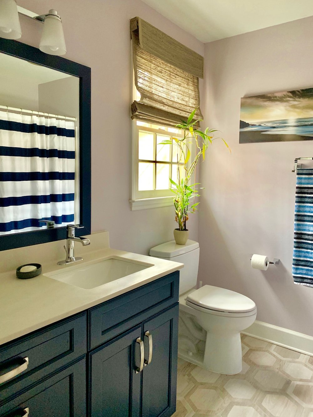 When the kids bathroom has the right storage and finishes, it's much easier for them to keep it clean.