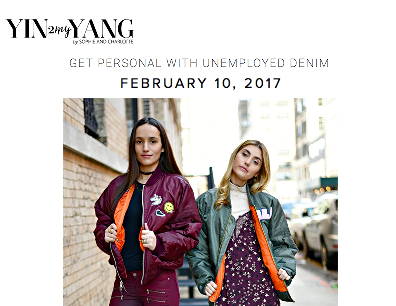 ud Personalized Bombers featured on FASHION BLOG, yin 2my yang
