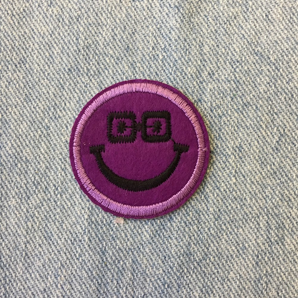 PURPLE SMILEY