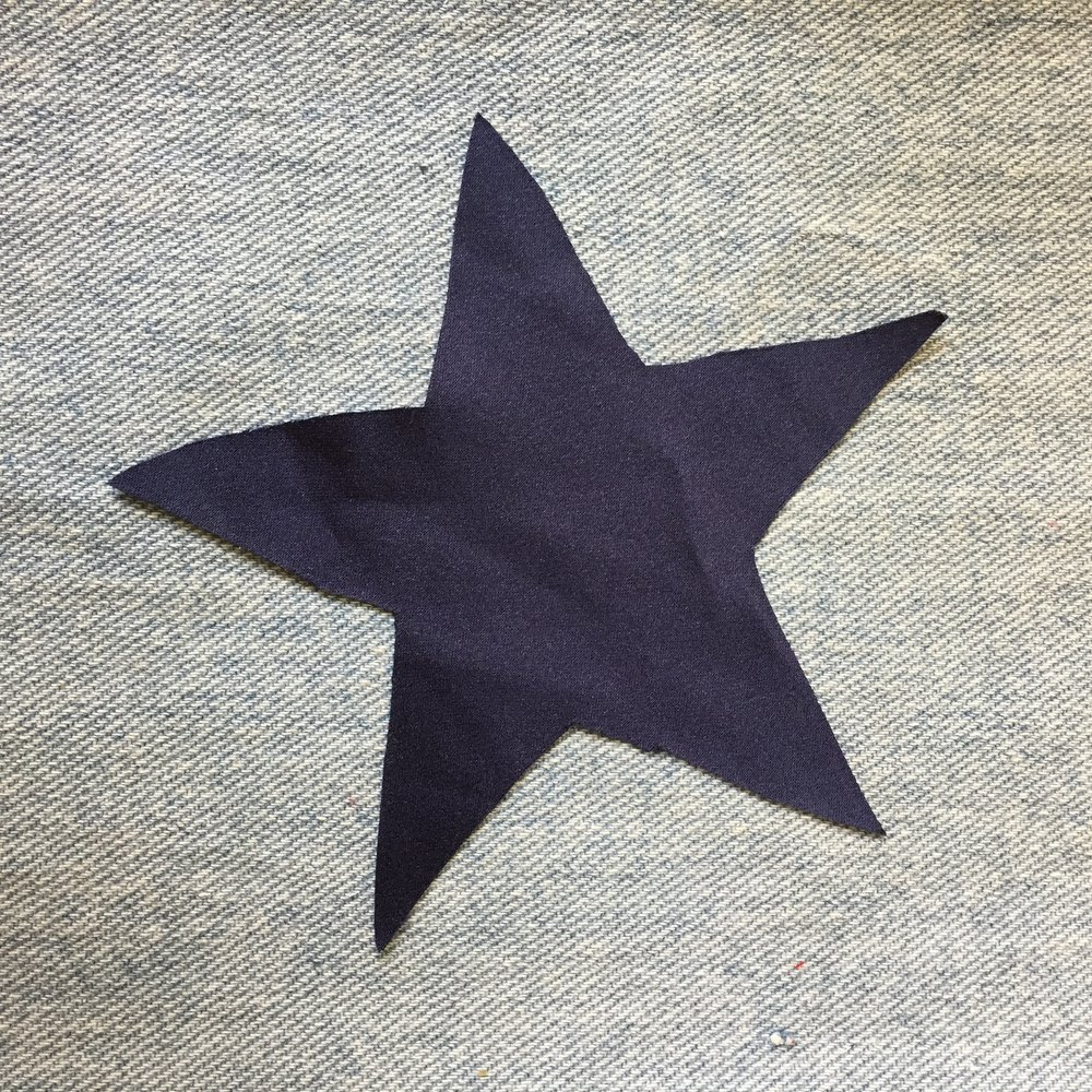 NAVY SILK STAR