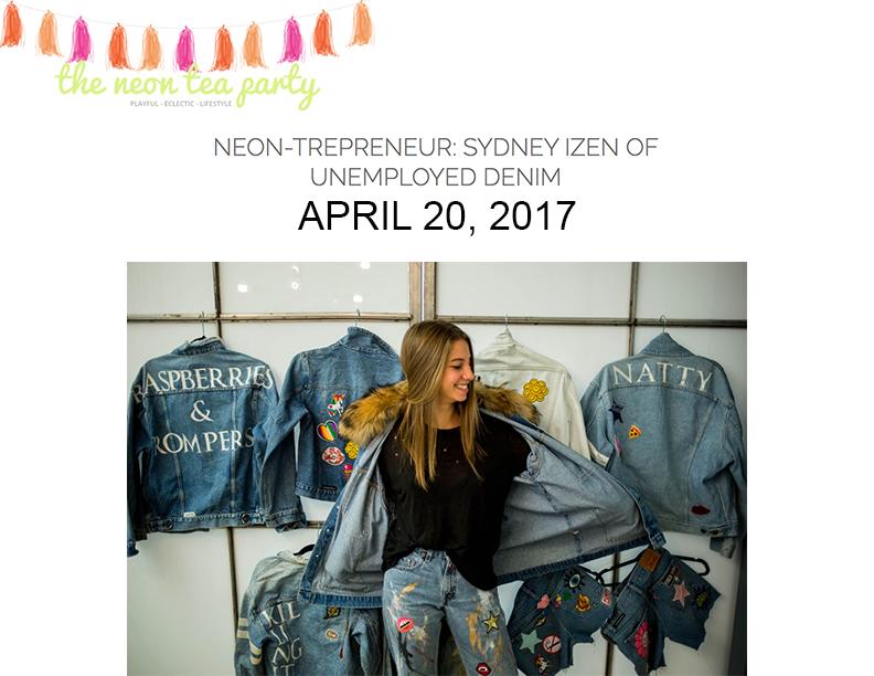 Sydney izen named neon-trepreneur by the neon tea party