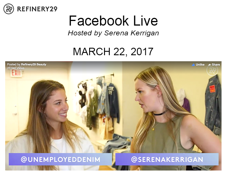 CLICK TO WATCH THE FACEBOOK LIVE WITH REFINERY29