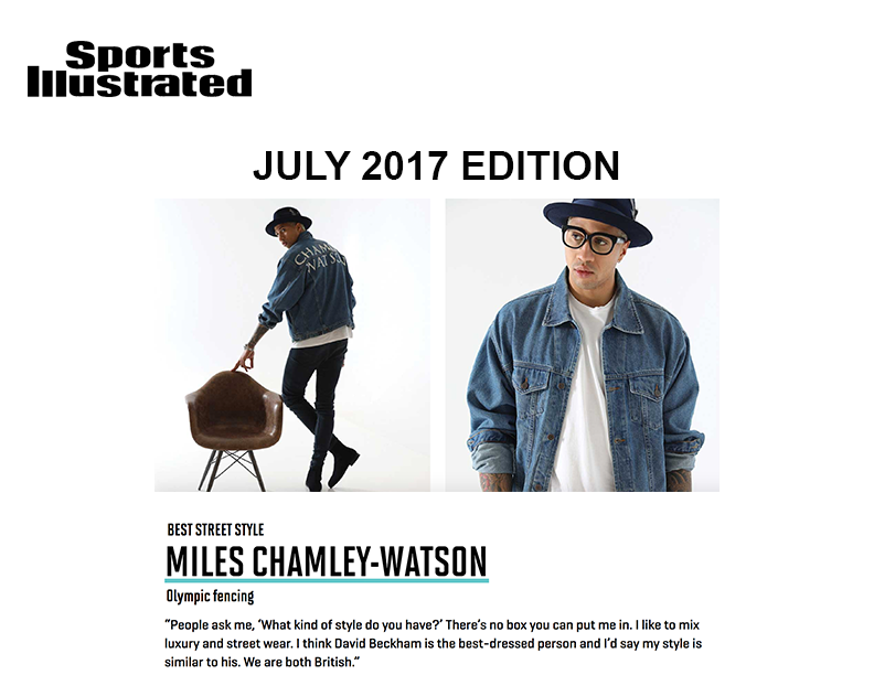 Miles chamley-watson featured as a best dressed athlete in july 2017 sports illustrated as best street style