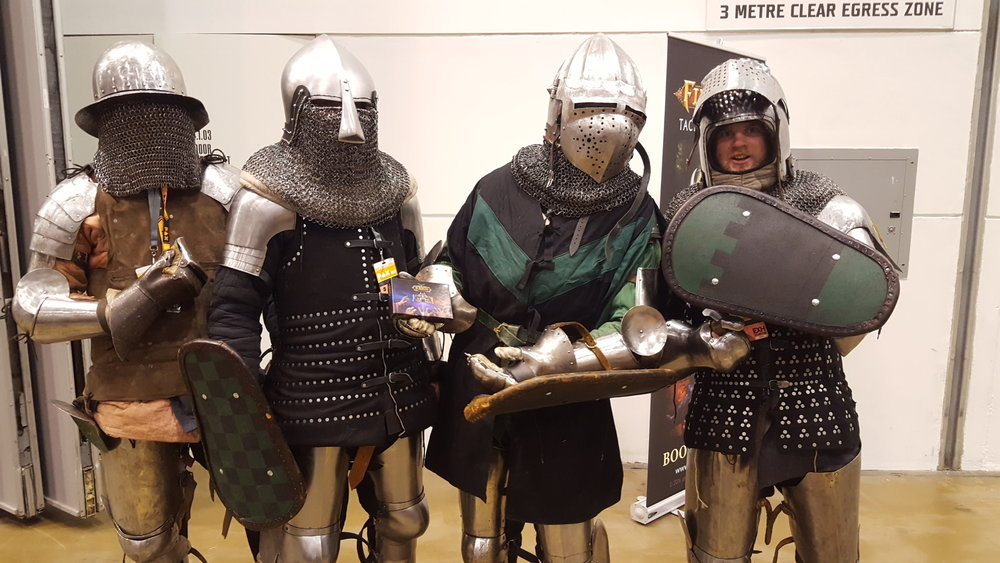 Some people who were knights enough to take a picture with Reign