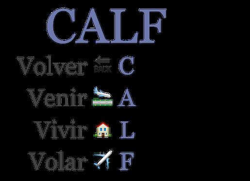 CALF: VOLVER VENIS VIVIR VOLAR