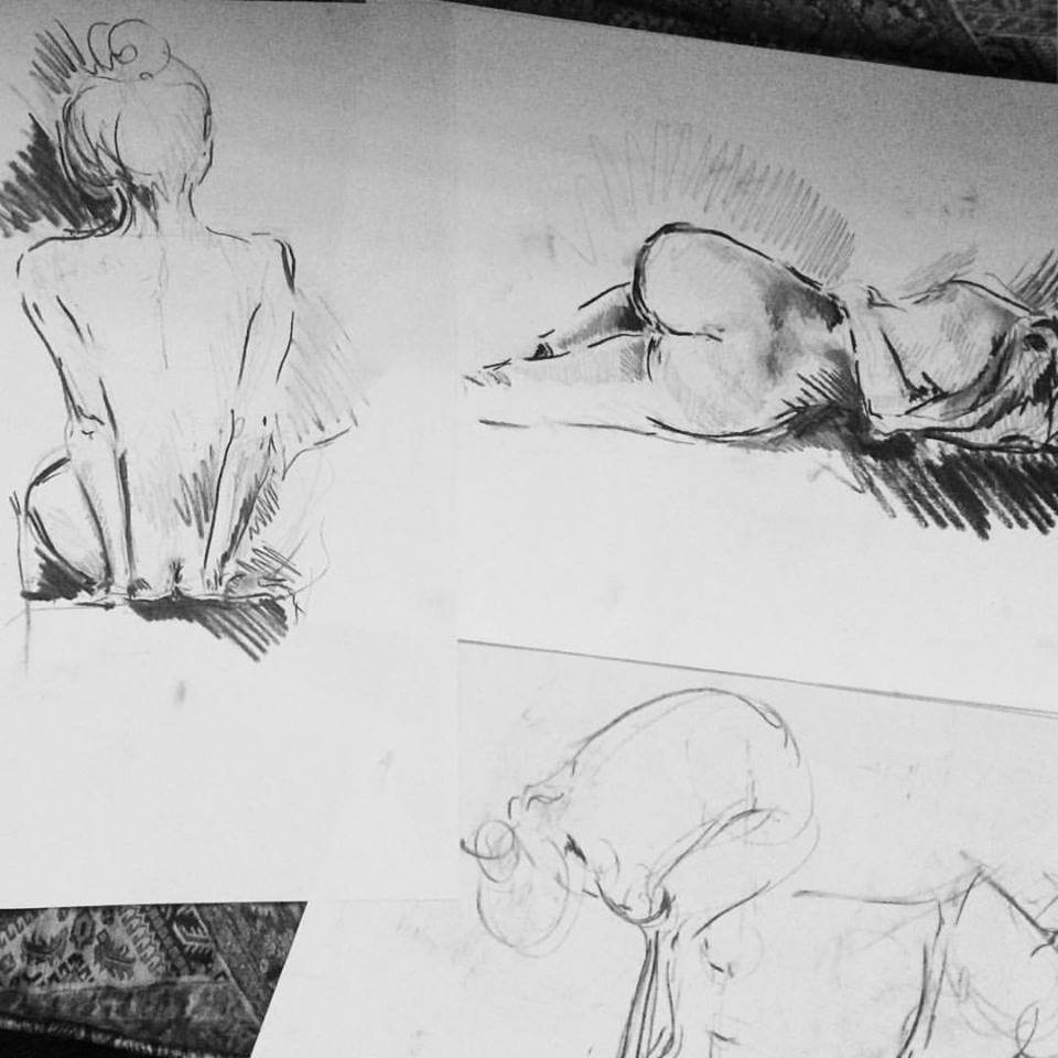 Life Drawing Class @B&H, EC2A London.