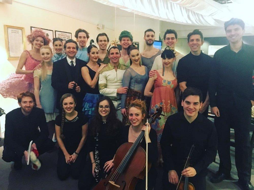 After final performance of Tchaikovsky's Nutcracker with Peter Schaufass Ballet