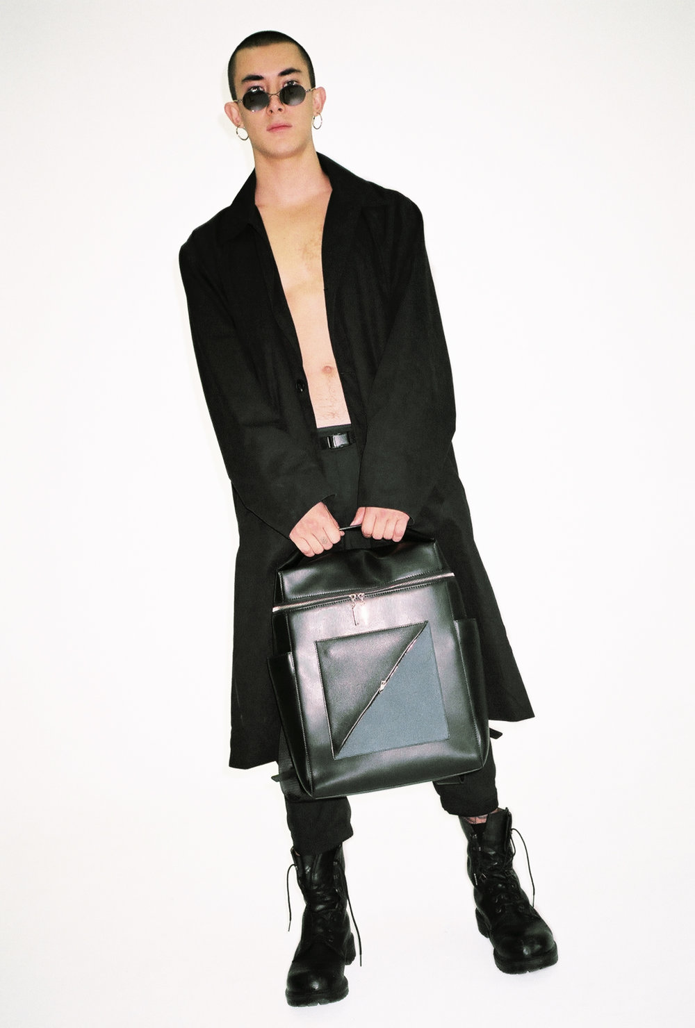 BACKPACK01 with DIAGONAL ZIPPER Clutch.jpg