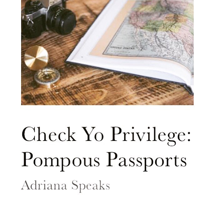 "Many of us love to travel, but what happens when we judge others who don't? Contributor @onlythisadri tackles this issue with another ""check yo privilege"" issue. Link is in the bio. Check it out!  #travel #passport #blackswhotravel #blogger #blackgirlswhoblog #travelnoire"