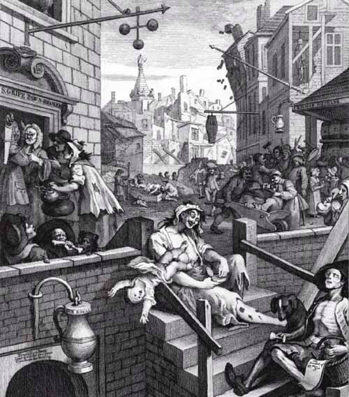 William Hogarth's 'Gin Lane' [1751].
