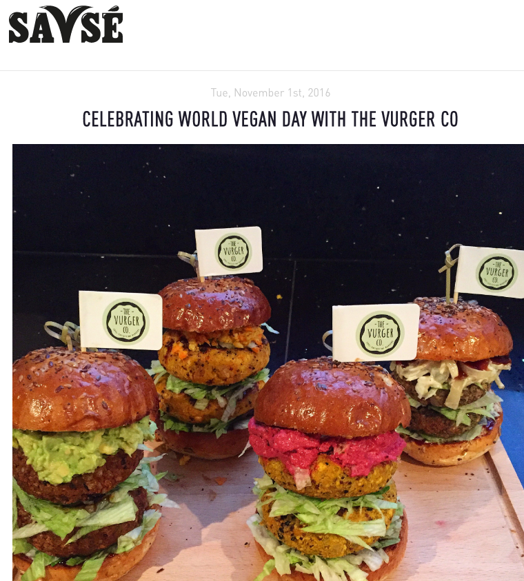 ''Celebrating World Vegan Day with The Vurger Co'' - .....................................