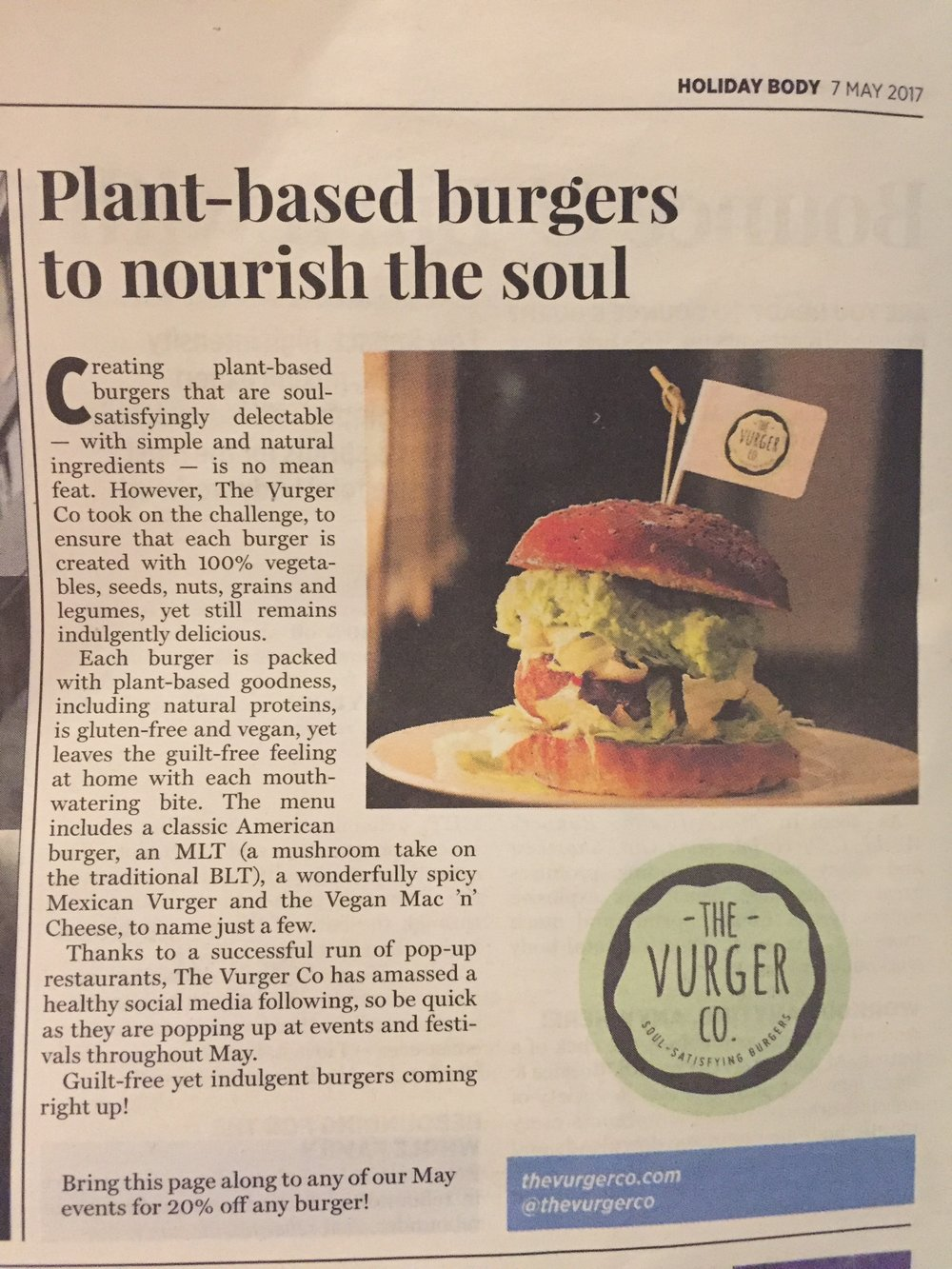 The Mail on Sunday - Featured in the Mail on Sunday 7th May 2017 in their Holiday Body supplement