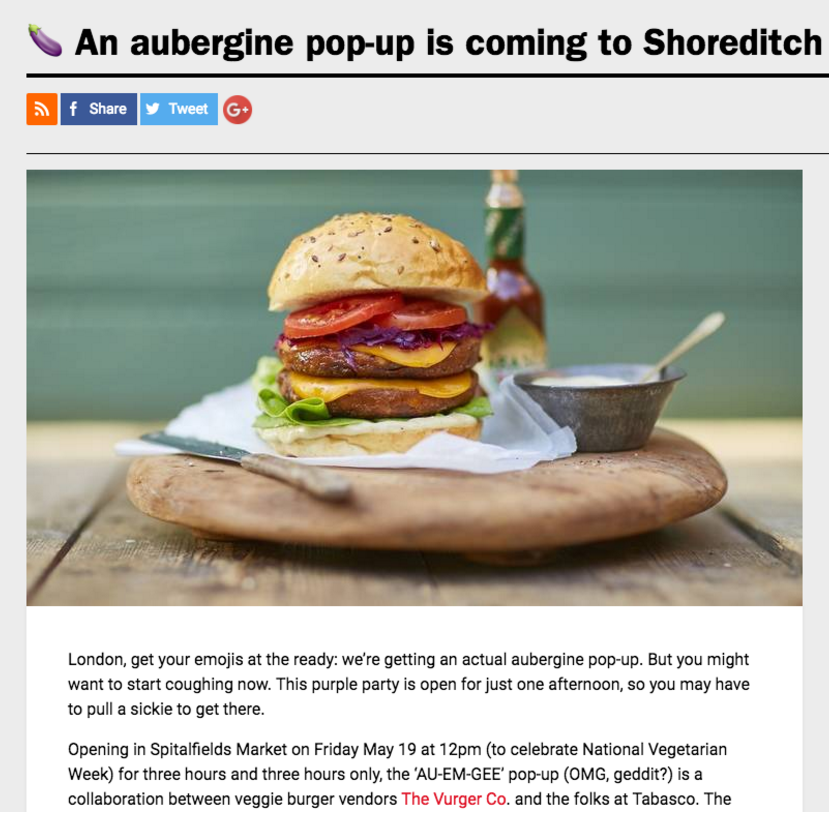 TIME OUT LONDON - AUBURGER COVERAGE MAY SPITALFIELDS POP UP