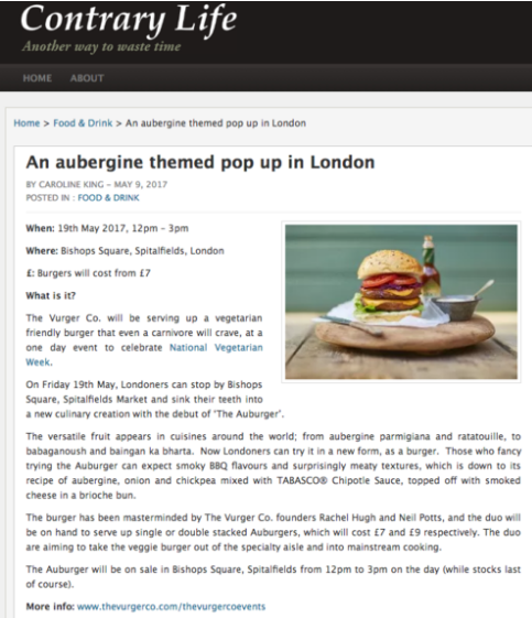CONTRARY LIFE - AUBURGER COVERAGE MAY 2017