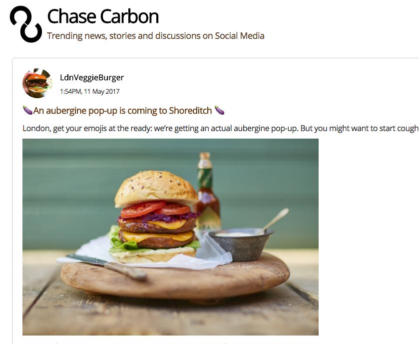 CHASE CARBON - TRENDING TOPICS ON SOCIAL MEDIA