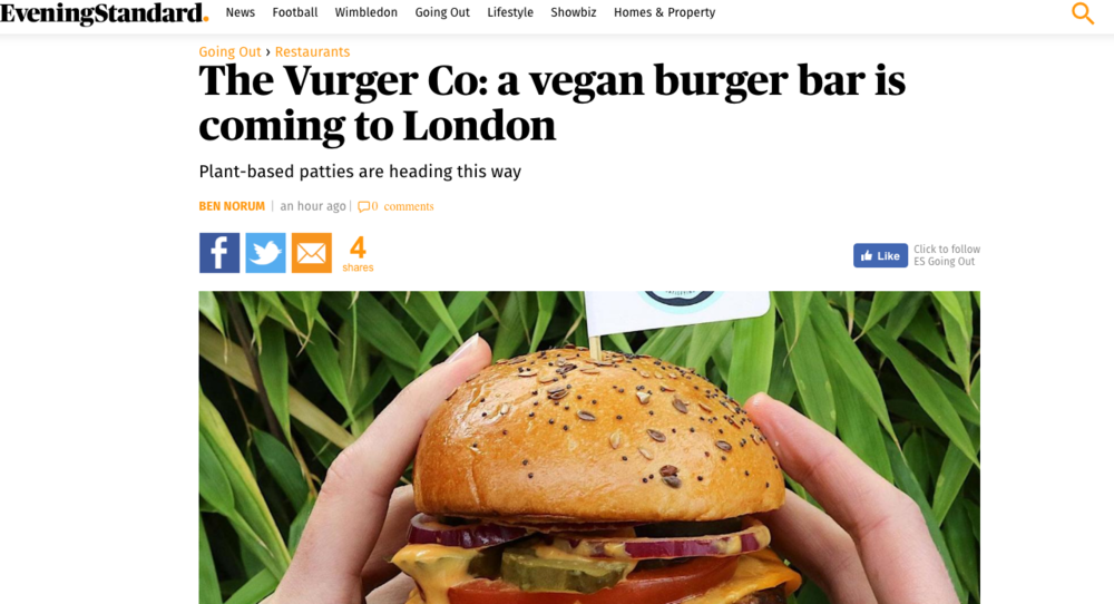 Evening Standard - Excellent coverage on our Crowdcube campaign launch 3rd July 2017