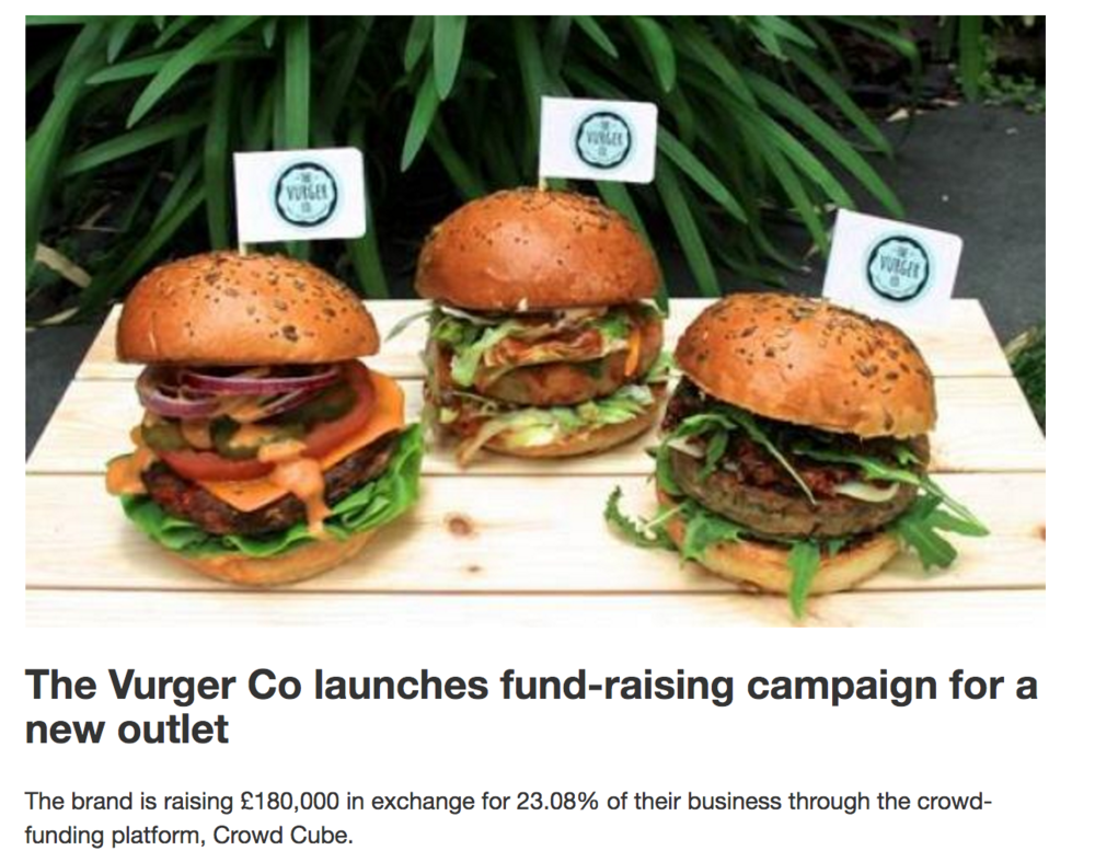 The Vurger Co launches fund-raising campaign for a new outlet -
