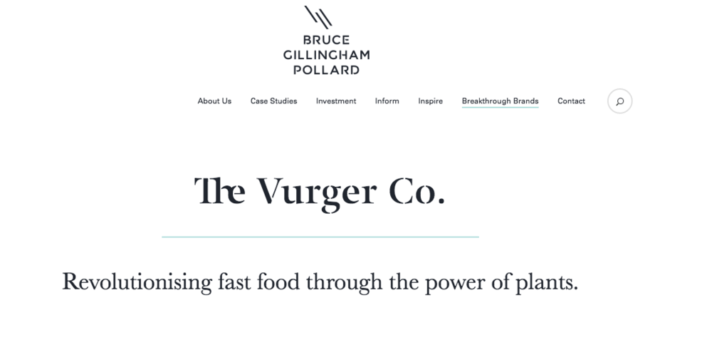 Bruce Gillingham Pollard - The Vurger Co featured in their Breakthrough Brands - Breakthrough Brands October 2017