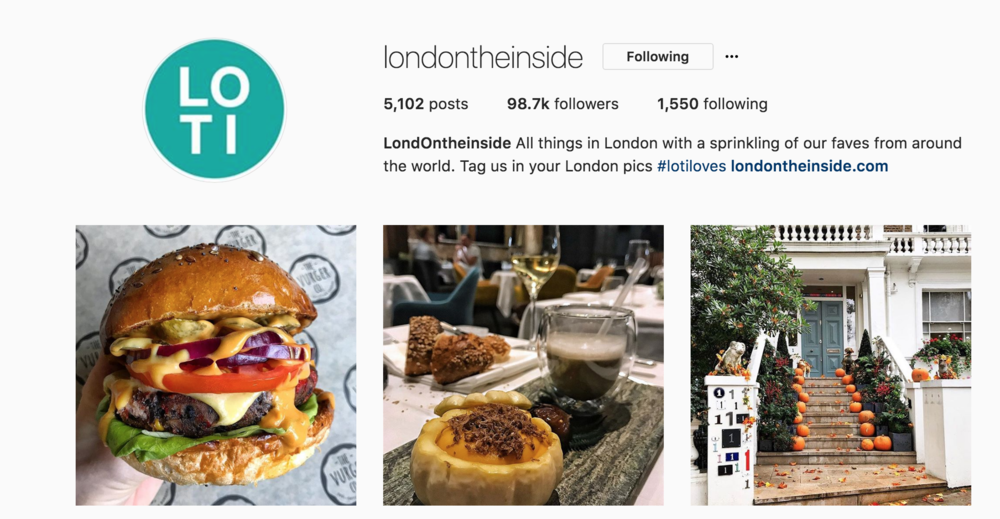 London on the Inside - Instagram competition collaboration1st November 2017