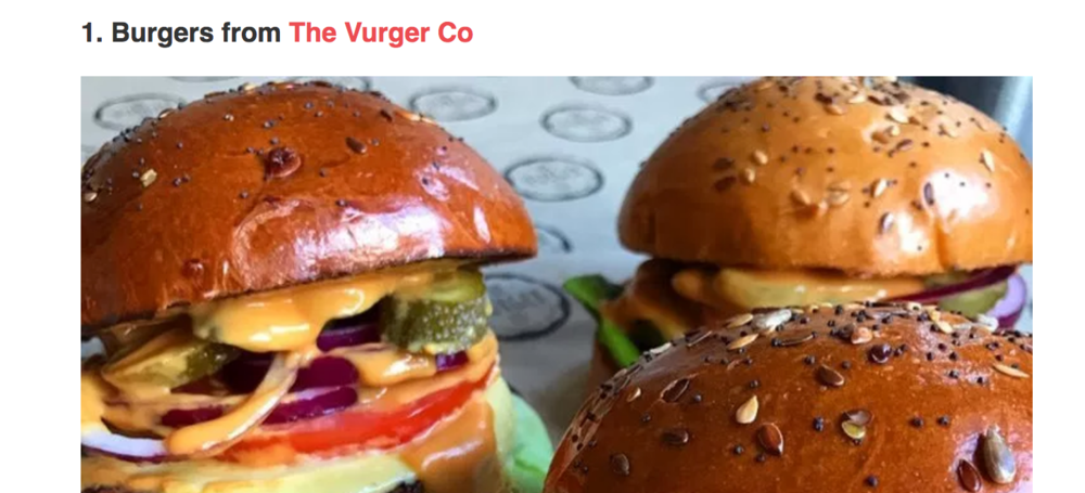 Secret London - Feature on Indulgent Vegan brands and our burgers were number 1!Image owned by The Vurger Co