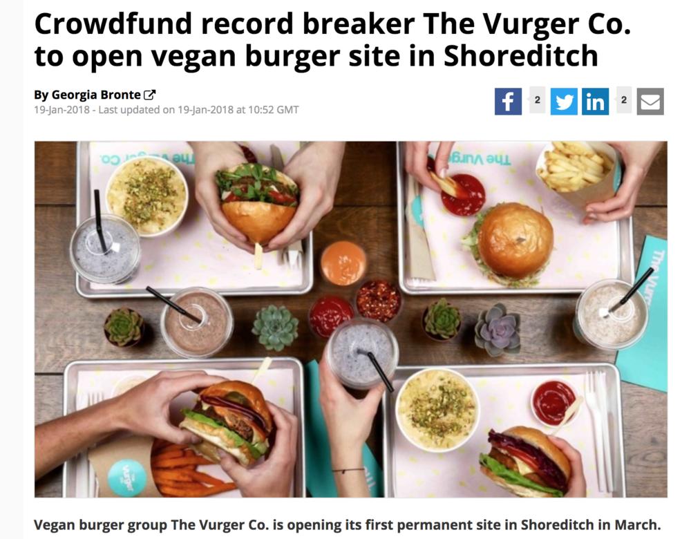 Big Hospitality - Shoreditch Restaurant site launch