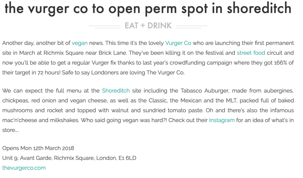 London On The Inside - The Vurger Co Opening Permanent Site