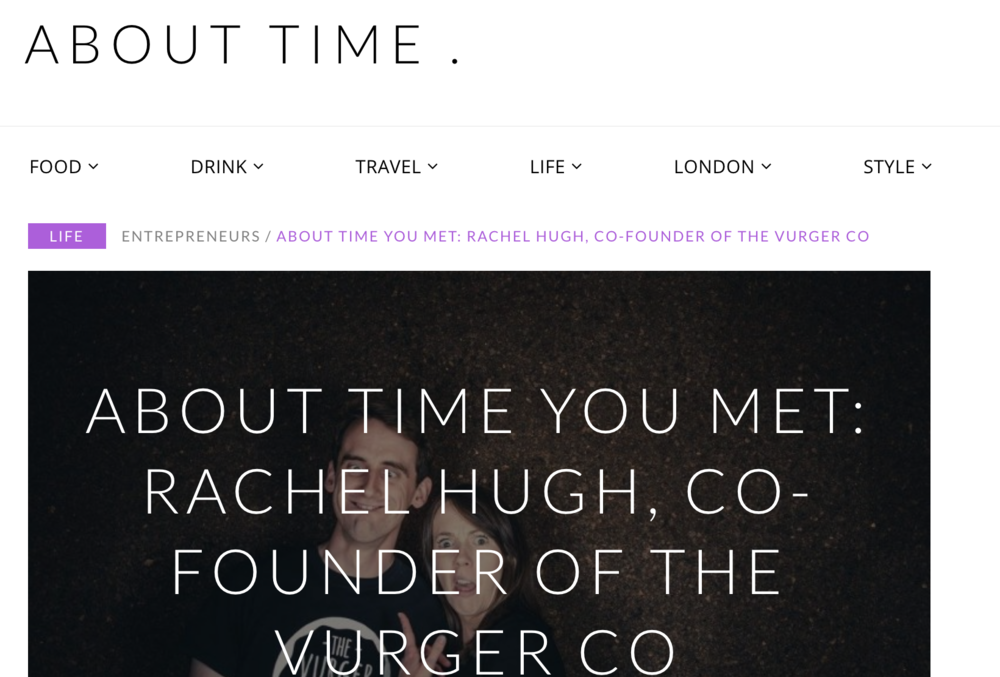 About Time Interview March 2018 - Meet the Co-Founder Rachel Hugh