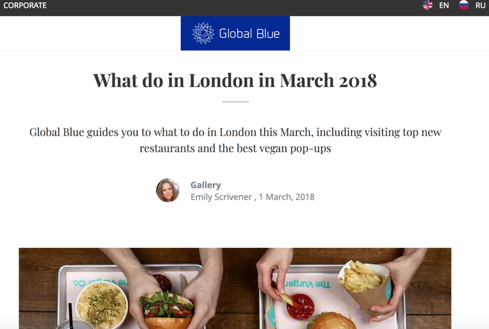 Global Blue - What to do in London in March 2018