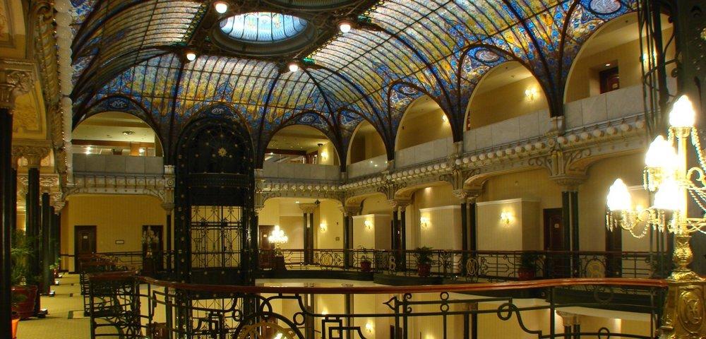The interior of the Gran Hotel.