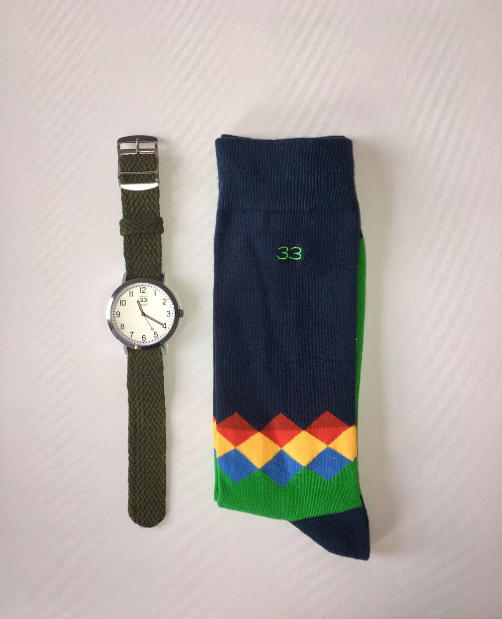 Combination (Time Machine and Limited Edition Socks by 33)