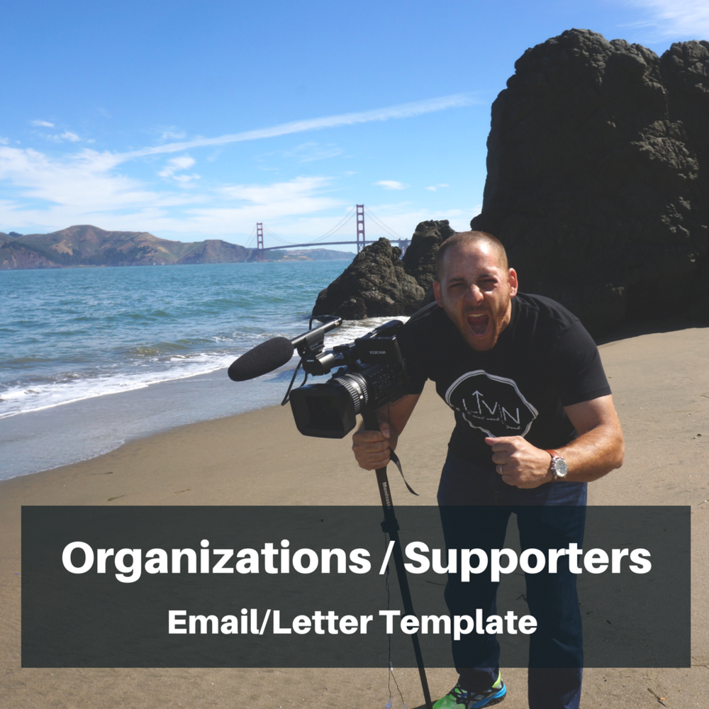 Template - Letter/Email for Organizations - This WORD document is a template that can be used to send to organizations & supporters letting them know about your screening. Download Here