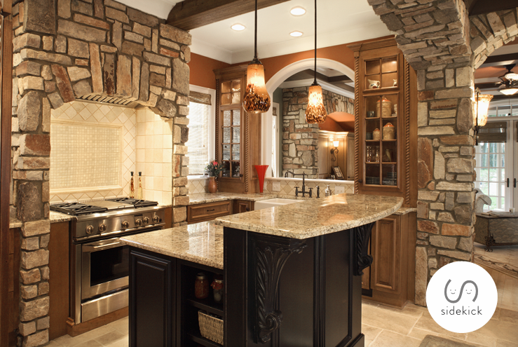 romantic kitchen lighting