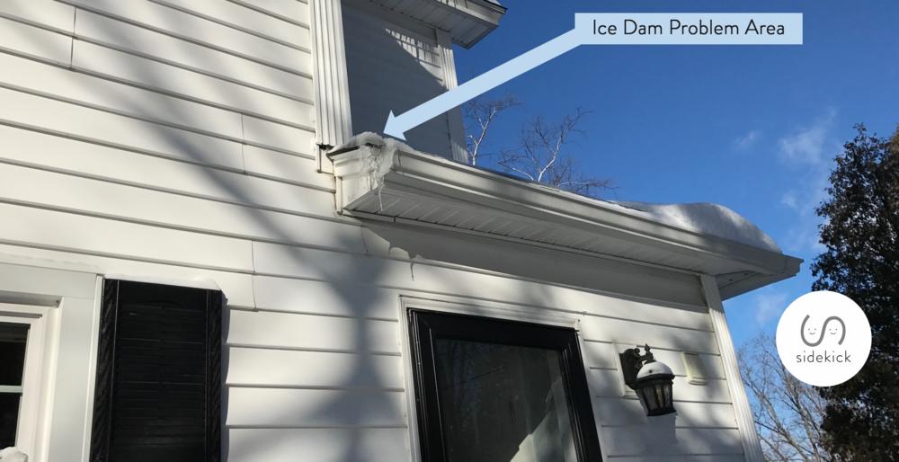 ice dam problem area