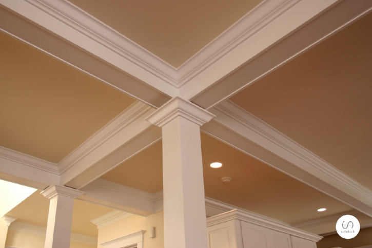 stunning finish carpentry with crown molding