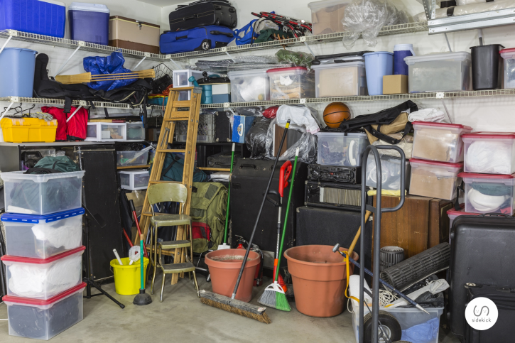an organized garage starts with a plan