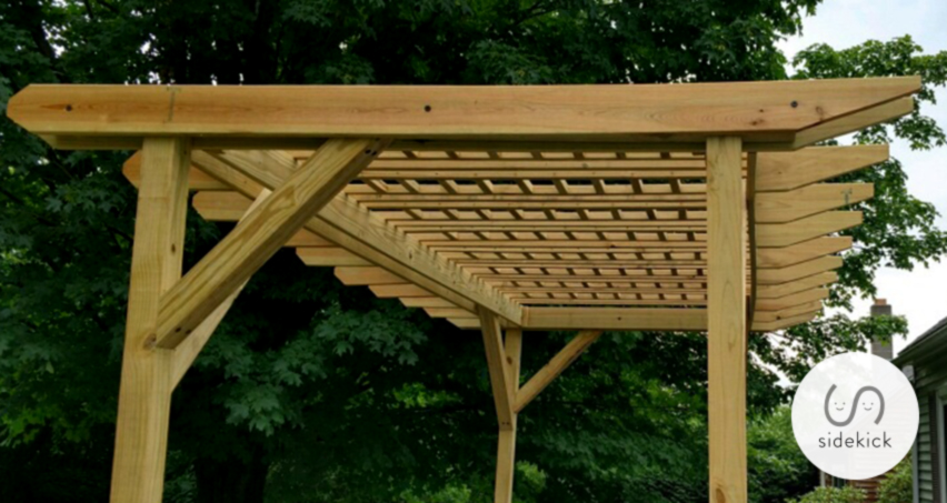 This is a picture of the pergola I built