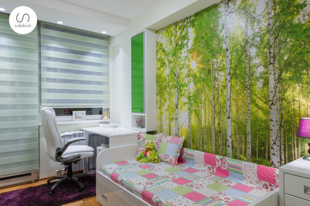 Illusion Wallpaper Trends Showing a Forest Background
