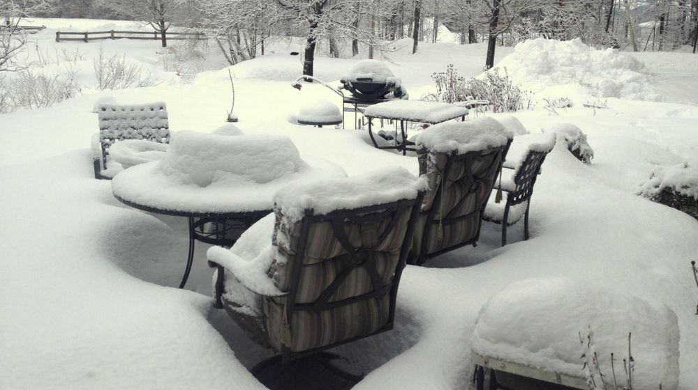 patio furniture needs to be packed up before winter